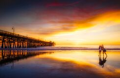 Sunset Beach Selfie San Clemente Pier