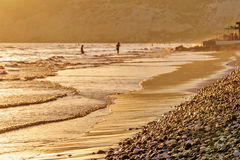 Sunset on beach. In sepia tone Royalty Free Stock Photography