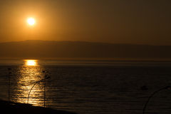 Sunset. On the beach in Sicilia Royalty Free Stock Photos