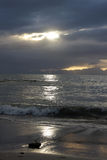 Sunset on the beach at Simons Bay Royalty Free Stock Image