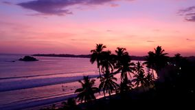 Sunset beach in south of Sri lanka. Hambantota is a beautiful city in Sri lanka. royalty free stock photo