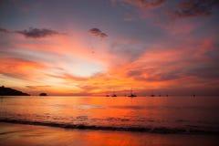 Sunset on the beach Stock Photos