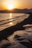 Sunset on the beach of Sperlonga, Italy Stock Photo