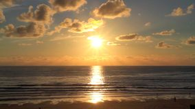 Sunset at the beach stock video footage