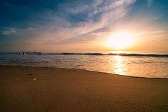 Sunset and beach Stock Photography