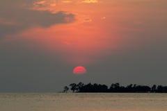 Sunset beach. Sunset at Tanjung Tuan Port Dickson,Malaysia Stock Photo