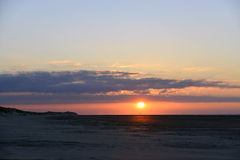 Sunset beach Terschelling Royalty Free Stock Photo