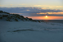 Sunset beach Terschelling Royalty Free Stock Photography