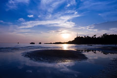 Sunset at the beach, Thailand Royalty Free Stock Photos
