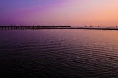 Sunset on the beach. Of Thailand Stock Photos