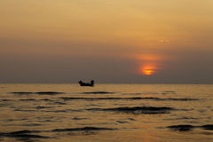 Sunset on the beach. Of Thailand Stock Image