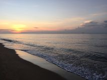 Sunset. On the beach in Thailand Stock Images