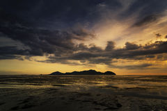 Sunset at beach, Thailand Royalty Free Stock Image