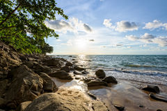 Sunset at beach in Thailand Stock Photography