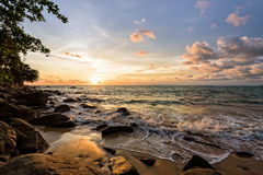 Sunset at beach in Thailand Stock Images