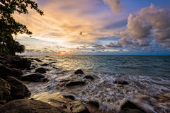 Sunset at beach in Thailand Stock Photo