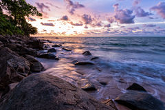 Sunset at beach in Thailand Royalty Free Stock Image