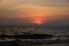 Sunset on the beach, Thailand stock photo