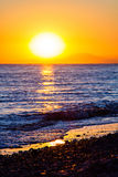Sunset on the beach, Turkey Royalty Free Stock Photography