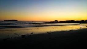 Sunset on the beach Vancouver Island stock photos