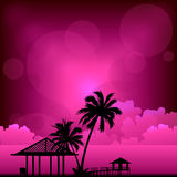 Sunset beach  vector Royalty Free Stock Photography