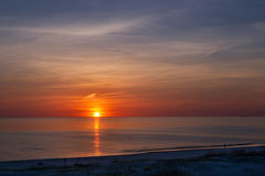 Sunset at the beach in Ventspils Stock Photography