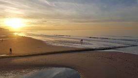 Sunset on the beach royalty free stock photography