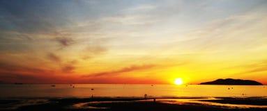 Sunset beach, Vietnam. Sunset beach view at Vietnam royalty free stock image