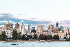 Sunset Beach view from Kitsilano Beach in Vancouver, Canada Stock Photos