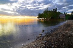Sunset. Beach view of Libertad, Odiongan,Romblon,Philippines Royalty Free Stock Photos