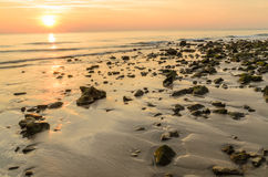 Sunset on the beach. Royalty Free Stock Photos