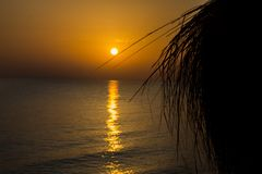 Sunset on the beach, what could be more beautiful?. Ira light and shadow royalty free stock photos