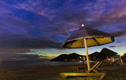 Sunset beach yalong sanya china Royalty Free Stock Photo