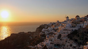 Sunset. Beatiful sunset in Santorini Oia Stock Photography