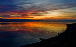 Sunset on the Beauly Firth, Scotland Royalty Free Stock Photography