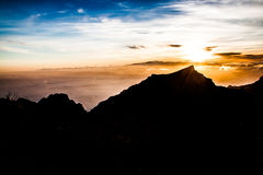 Sunset. A beautiful sunset above the sky Royalty Free Stock Image