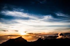 Sunset. A beautiful sunset above the sky Stock Image