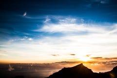 Sunset. A beautiful sunset above the sky Royalty Free Stock Photos