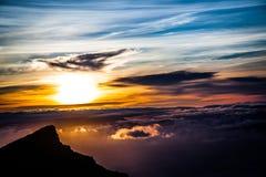 Sunset. A beautiful sunset above the sky Stock Photography