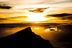 Sunset. A beautiful sunset above the sky Stock Images