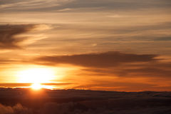 Sunset. A beautiful sunset above the sky Royalty Free Stock Photography