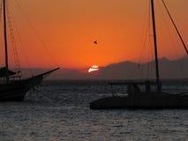 Sunset. Beautiful sunset from Búzios, Rio de Jnaneiro/BR royalty free stock photo