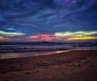 Malpe Beach, Mangalore. A sunset on a beautiful beach in Udupi, Mangalore Stock Photography