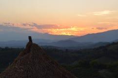 Sunset. Beautiful sunset. Beautiful sky and mountain stock photos