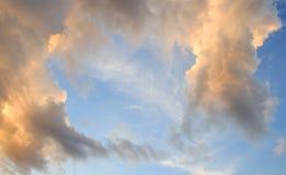 Sunset with beautiful blue sky Stock Image
