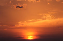 Sunset. Beautiful sunset of the caribbean coast Stock Images