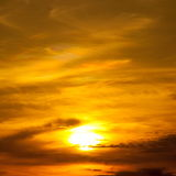 Sunset with beautiful cloudscape Stock Photography