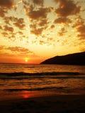 Sunset. Beautiful sunset in Greece Stock Photo