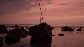 Sunset. Beautiful sunset at the Gulf of Finland. Baltic sea stock image
