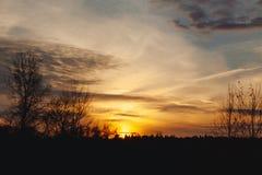 Sunset. Beautiful sunset on the horizon Royalty Free Stock Images